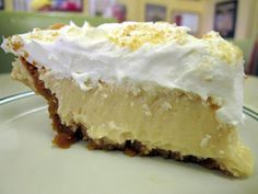 """Made this for Jacobs birthday-- soooo yummy and easy to make! Lemon Icebox Pie: """"Apparently this is a favorite of truck stops nationwide, but seriously it is the best non-chocolate dessert I have ever had! It's super easy too. Non Chocolate Desserts, 13 Desserts, Lemon Desserts, Lemon Recipes, Pie Recipes, Sweet Recipes, Delicious Desserts, Dessert Recipes, Yummy Food"""