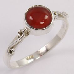 Hot Collection 925 Sterling Silver Ring Size US 7.25 Natural CARNELIAN Gemstone #Unbranded