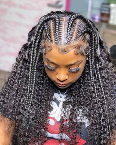 Box Braids Hairstyles For Black Women, Braids Hairstyles Pictures, Black Girl Braids, Baddie Hairstyles, Girls Braids, Braids For Black Women Cornrows, Black Baby Girl Hairstyles, Hair Ponytail Styles, Curly Hair Styles