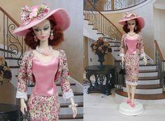 """Robe """" Claudine """" tenue pour poupée f3788"""