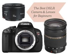 The Best DSLR Canon Camera and Lenses for Beginners. This is a wonderful easy to understand breakdown. I wholeheartedly agree with Nicole get a nifty 50 you won't be sorry! #CanonCameras