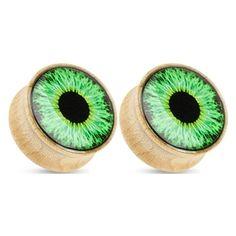 "13/16"" Green Eyeball Maple Wood Saddle Plugs"