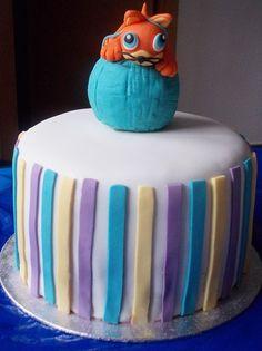 Layer cake chocolate con figura fondant de gatito