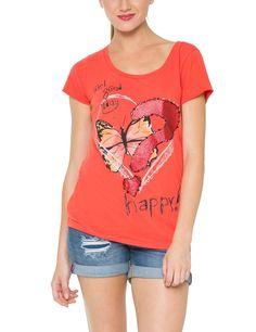 Desigual Women's Printed Short Sleeve T-Shirt: Amazon.co.uk: Clothing