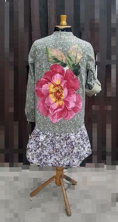 1X Floral Application Bohemian Patchwork Dress Boho Artistic | Etsy Shabby Chic Dress, Rustic Shabby Chic, Shabby Chic Style, Boho Dress, Boho Chic, Bohemian, Romantic Outfit, Gypsy Dresses, Patchwork Dress