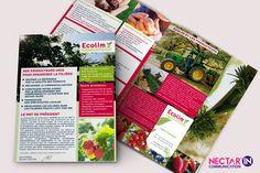 Pochette à rabats pour Ecolim, groupement de producteurs. Design, mise en page et photos by Nectar'In Communication.