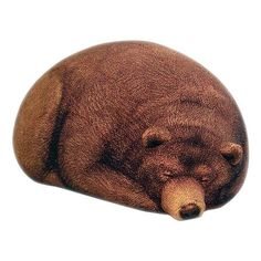 Comfy Beanbag Designed in Sleeping Bear : Cute Grizzly Bear Sleeping Bag With Brown Fur Color Decoration