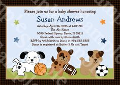 Personalized Bow Wow Puppy Dog & Sports by PersonalizedbyDiane, $12.00