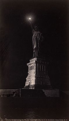 Statue of Liberty at Night (Liberty Enlightening the World), NY. 1890. By Seneca Ray Stoddard.