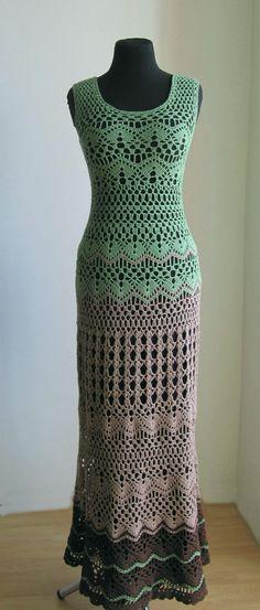 Verano boho de ganchillo vestido largo vestidos Hippie vestido playa vestido encaje crochet vestido punto algodón vestidos bohemios Womens maxi vestidos