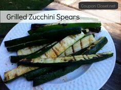 Grilled Zucchini Spears Recipe is easy, fast, and delicious!