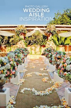 For endless inspiration and decor ideas, indulge in a gallery of our favorite wedding aisles.