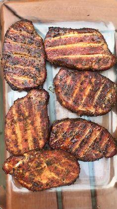 [Homemade] Hickory smoked pork chops