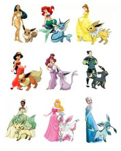 Disney Princesses and their Eeve-lutions. Disney  Pokemon