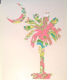Lilly Pulitzer Palmetto Moon Decal perfect for laptop by GinsMonogramShoppe, $6.99