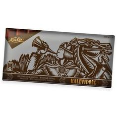 Kalevipoeg milk chocolate with almonds 300g  national epic Kalevipoeg is renowned for his feats of heroism. Crowned as the king after winning a stone throwing game held with his brothers, this champion of the people ploughed and cultivated the land, protected his minions by fighting off invading forces, visited the underworld and undertook a journey to the very ends of the world.