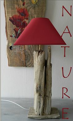 Driftwood lamps - C - Wood Decora la Maison Driftwood Lamp, Driftwood Projects, Gold Lamp Shades, Gold Lamps, White Lamps, Rustic Lamps, Industrial Lamps, Wooden Lamp, Wood Creations