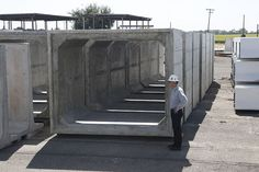 Monolithic Box Culvert per ASTM C1577 in Lockeford, California Yard.