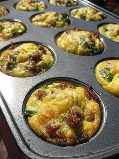 "Broccoli and Italian Sausage Egg Muffins. These look so yummy, Kirsten! I bet I can make them into ""Omelette Muffins""! Breakfast And Brunch, Breakfast Cupcakes, Breakfast Dishes, Breakfast Recipes, Breakfast Muffins, Breakfast Omelette, Breakfast Ideas, Sausage Breakfast, Breakfast Cooking"