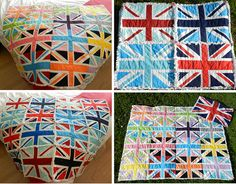 union jack rag quilt riley blake fabric free tutorial pattern