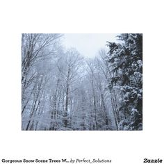 Decorate your walls with canvas prints from Zazzle! Choose from thousands of great wrapped canvas to beautify your home or office. Canvas Canvas, Canvas Art Prints, Snow Scenes, Wrapped Canvas, Trees, Poster, Outdoor, Decor, Outdoors