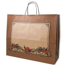 Printed Paper Bags, Paper Shopping Bags in Western Theme Printed Patterns