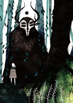 Chimère By Tarmasz Reminds me of Princess Mononoke...or a creepier version of My Neighbour Totoro.