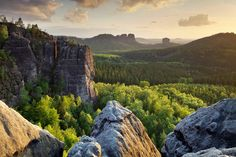Elba Sandstone Mountains,  Germany