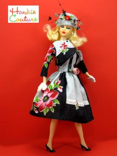 Doll dress from vintage hankie