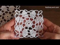 CROCHET Flower Pattern for Doily Tablecloth Blanket Motif Hexagon Tutorial