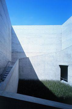 Tadao Ando à Naoshima, La cour carrée du Chichu Art Museum © Mitsuo Matsuoka