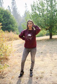 Burgundy Desert Sweatshirt – Ruby Rue Jewelry & Accessories Burgundy, Hipster, Sweatshirts, Bleach, Jewelry Accessories, Take That, Change, Turquoise, Running
