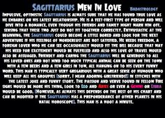 In A Love Is You How Do Man Know Sagittarius can