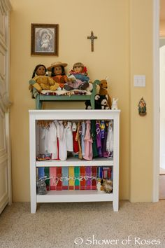 Shower of Roses: The Big Girls' Bedroom {and How We Organize Their American Girl Dolls and Clothes}
