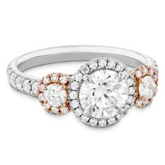 3 Stone Near White Moissanite Halo Bridal Engagement Ring White Gold Three Stone Engagement Rings, Three Stone Rings, Engagement Ring Styles, Halo Diamond Engagement Ring, Wedding Engagement, Diamond Heart, Diamond Cuts, Fire Heart, Moissanite