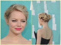 Get the Look: Emma Stone's Gorgeous Up-Do at the 2012 MTV Movie Awards