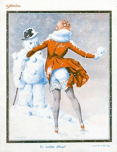 Maurice Pépin 1926 The Fight, Snowman