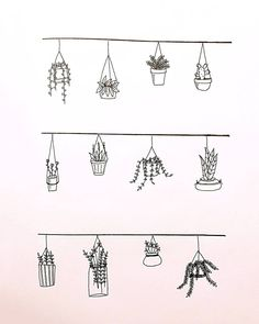 Wonderful Absolutely Free Hanging Plants Concepts, Planter Inspiration for Dess … - Modern Bullet Journal Notebook, Bullet Journal Ideas Pages, Bullet Journal Inspiration, Doodle Drawings, Easy Drawings, Doodle Art, Quote Drawings, Bullet Journal Aesthetic, Plant Drawing