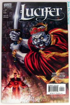 Lucifer (Morningstar) Gods of Japanese Underworld DC Vertigo Comics Dc Comics, Horror Comics, Mike Carey, Fox Tv Shows, Comic Art, Comic Books, Vertigo Comics, Tales From The Crypt, Famous Monsters