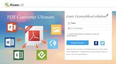 Aiseesoft PDF Converter Ultimate 內建 OCR 辨識功能的 PDF 轉檔軟體,限時免費下載
