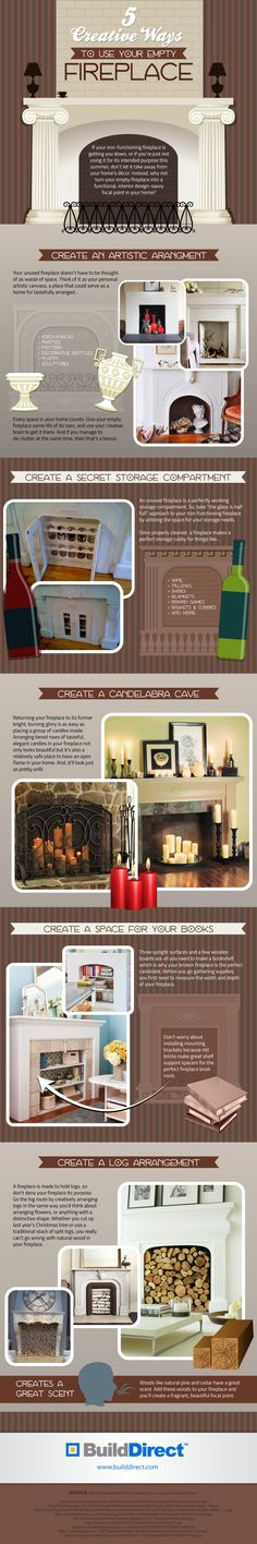 BuildDirect EmptyFireplace v1 copy 5 Creative Ways To Use Your Empty Fireplace: Revisited!