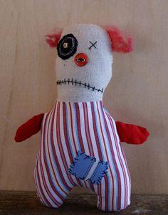 OOAK  Plush Crazy Clown Creepy Clown Zombie clown Killer