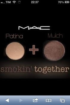 "MAC ""Patina"" and ""Mulch"" eyeshadow combination. Mulch in particular makes my blue eyes pop, but this combo looks amazing on everyone anyway. Mac Makeup, Love Makeup, Skin Makeup, Beauty Makeup, Makeup Looks, Sombras Mac, Blue Eyes Pop, Green Eyes, Makeup Obsession"