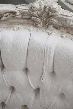 Tufted armchair detail