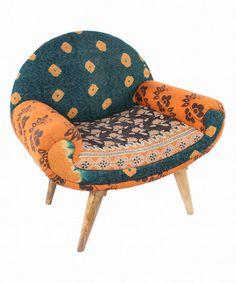 Blue & Yellow Patchwork Modern Traveler Chair