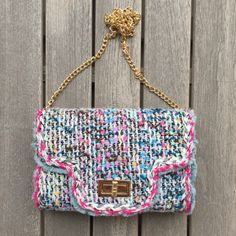 TWEED COCO BAG - WHITE