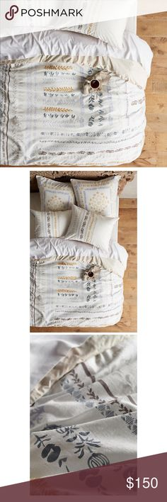 New! Anthropologie Brindisi Duvet Cover Anthropologie Brindisi King size duvet cover only. Shams and pilllow cases are not included on this list New and never used Anthropologie Other