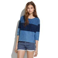 Only $30! MADEWELL J CREW Womens Cute Indigo Ink Colorblack Pullover Boxy Sweatshirt M #shopmodo #modoboutique