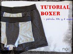 Boxer Short, Unterhose 6 Jahre, 46 (XXL) und 42 nähen I  diario de naii: Tutorial Boxer + Patrón