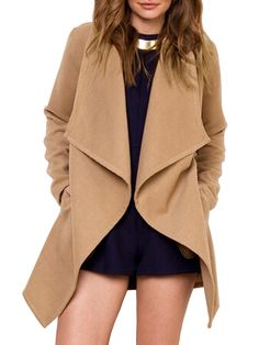 Shop Camel Lapel Long Sleeve Woolen Coat online. SheIn offers Camel Lapel Long Sleeve Woolen Coat & more to fit your fashionable needs.